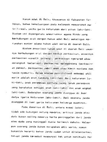 Kedudukan Janda Dalam Pewarisan Menurut Hukum Adat Bali Di Kabupaten Tabanan Ubaya Repository