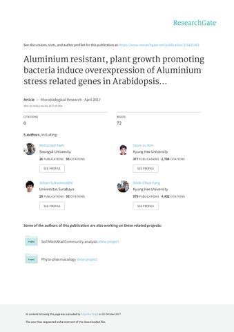Aluminium resistant, plant growth promoting bacteria induce